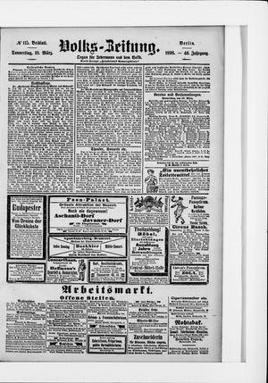 Volks-Zeitung vom 10.03.1898