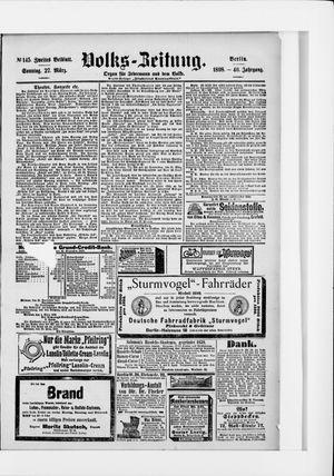 Volks-Zeitung vom 27.03.1898