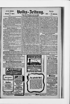 Volks-Zeitung vom 06.04.1898