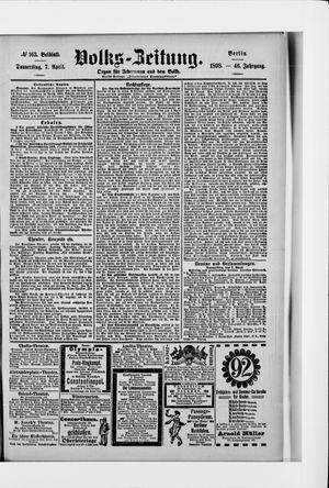 Volks-Zeitung vom 07.04.1898
