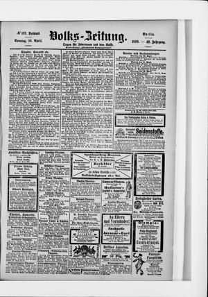 Volks-Zeitung vom 10.04.1898