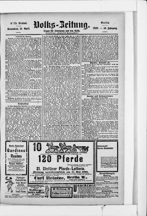 Volks-Zeitung vom 16.04.1898