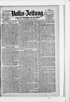 Volks-Zeitung vom 17.04.1898