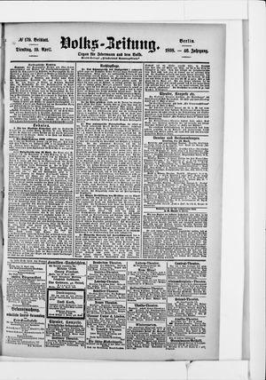 Volks-Zeitung vom 19.04.1898