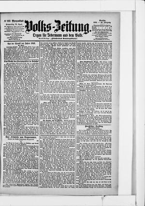 Volks-Zeitung vom 21.04.1898