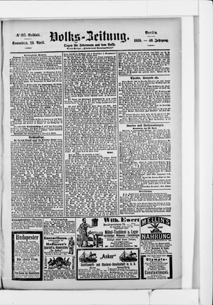 Volks-Zeitung vom 23.04.1898
