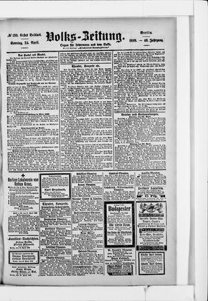 Volks-Zeitung vom 24.04.1898