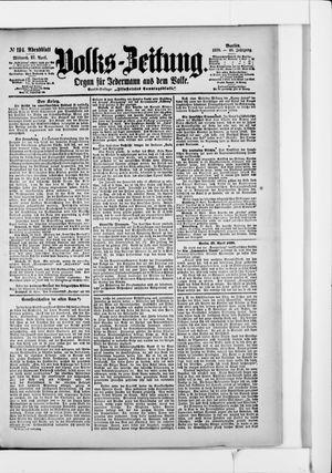 Volks-Zeitung vom 27.04.1898