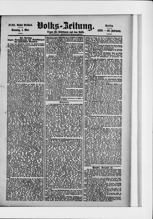 Volks-Zeitung vom 01.05.1898