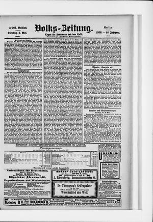 Volks-Zeitung vom 03.05.1898