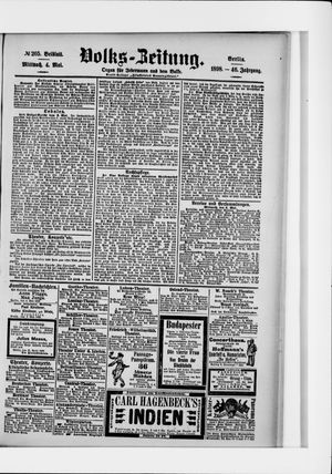 Volks-Zeitung on May 4, 1898