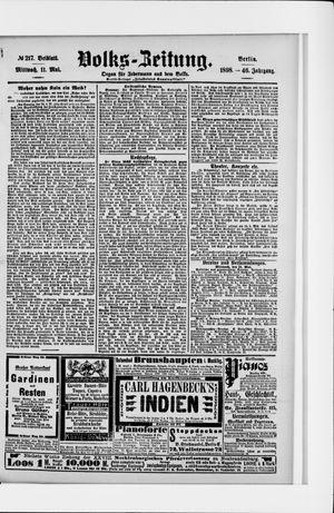 Volks-Zeitung vom 11.05.1898