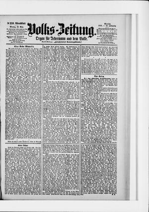 Volks-Zeitung on May 16, 1898