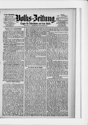 Volks-Zeitung vom 25.05.1898