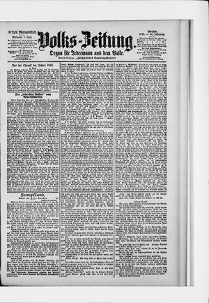 Volks-Zeitung vom 01.06.1898