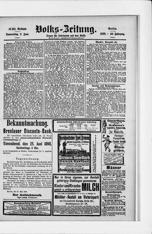 Volks-Zeitung vom 02.06.1898