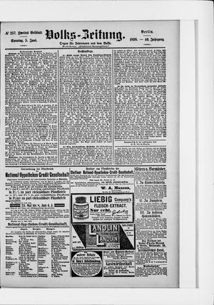 Volks-Zeitung vom 05.06.1898