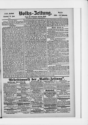 Volks-Zeitung vom 14.06.1898
