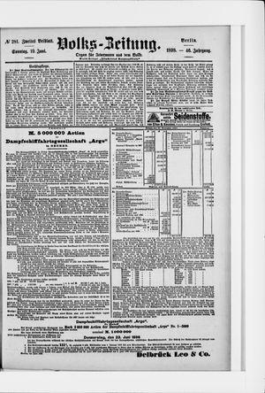 Volks-Zeitung vom 19.06.1898