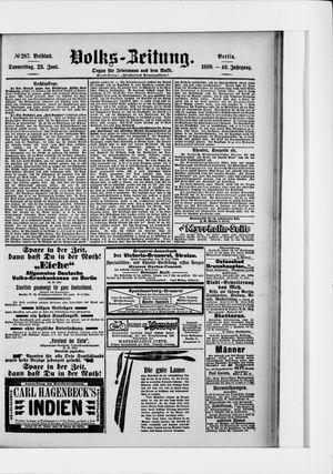 Volks-Zeitung vom 23.06.1898