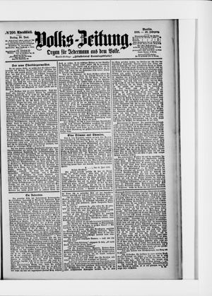 Volks-Zeitung vom 24.06.1898