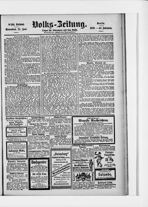 Volks-Zeitung vom 25.06.1898