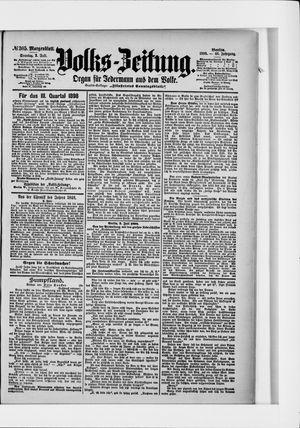Volks-Zeitung on Jul 3, 1898