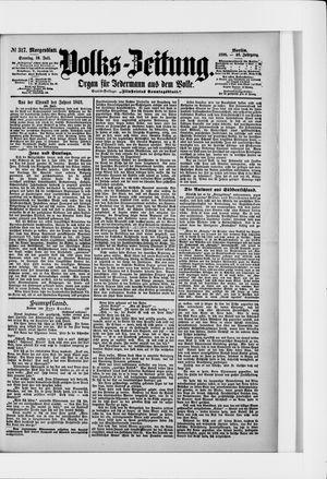 Volks-Zeitung vom 10.07.1898
