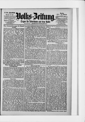 Volks-Zeitung vom 11.07.1898