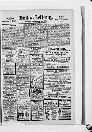 Volks-Zeitung vom 05.01.1899