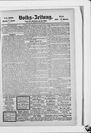 Volks-Zeitung vom 08.01.1899