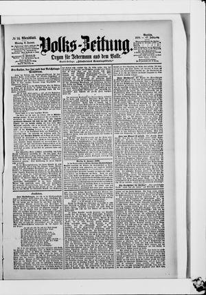 Volks-Zeitung vom 09.01.1899