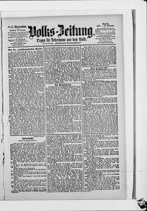 Volks-Zeitung vom 10.01.1899