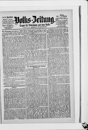 Volks-Zeitung vom 11.01.1899