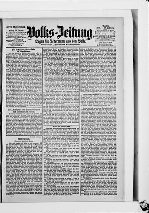 Volks-Zeitung on Jan 13, 1899