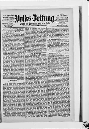 Volks-Zeitung vom 14.01.1899