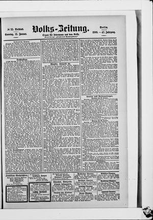 Volks-Zeitung vom 15.01.1899