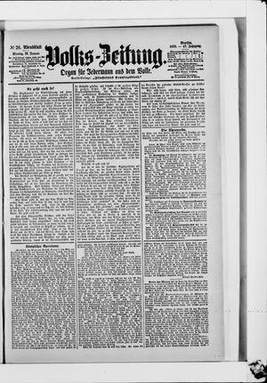 Volks-Zeitung vom 16.01.1899