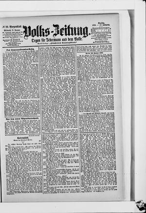 Volks-Zeitung vom 18.01.1899