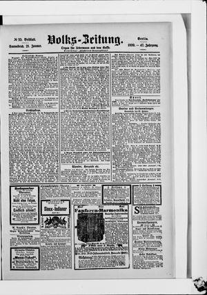 Volks-Zeitung vom 21.01.1899