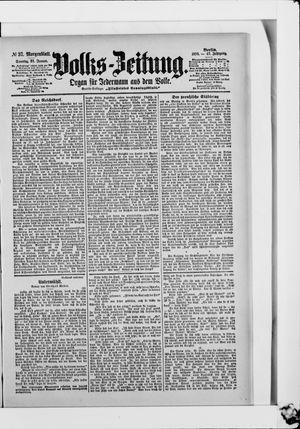Volks-Zeitung vom 22.01.1899