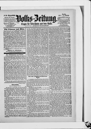 Volks-Zeitung vom 24.01.1899