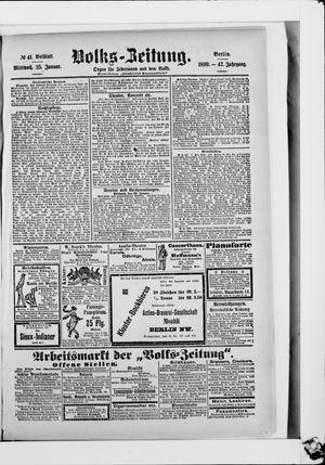 Volks-Zeitung vom 25.01.1899