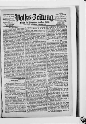 Volks-Zeitung on Jan 26, 1899