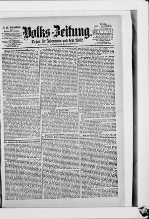 Volks-Zeitung vom 27.01.1899