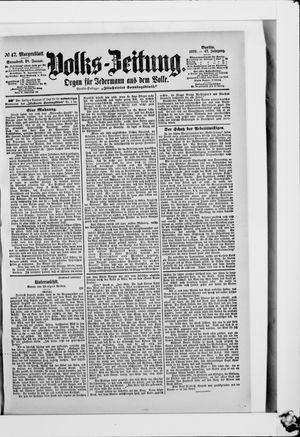 Volks-Zeitung vom 28.01.1899