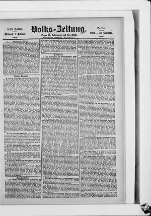 Volks-Zeitung vom 01.02.1899
