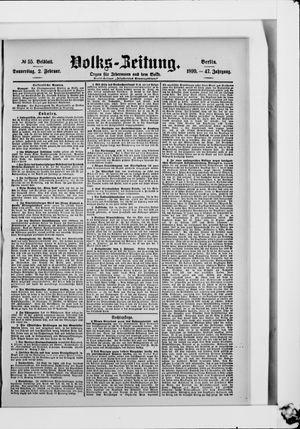 Volks-Zeitung vom 02.02.1899