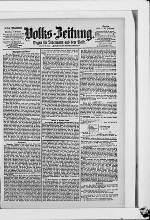 Volks-Zeitung vom 07.02.1899