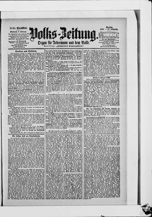 Volks-Zeitung vom 08.02.1899